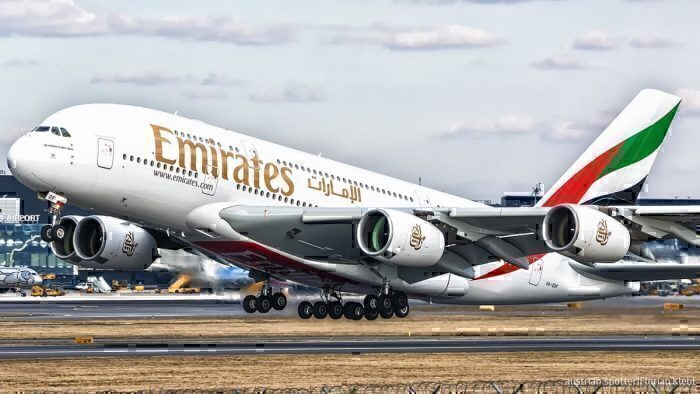 An Emirates Airbus a380
