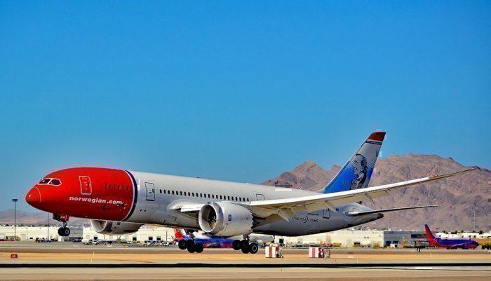 Norwegian 787 at LAS