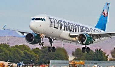 """1280px-N223FR_Frontier_Airlines_2006_Airbus_A320-200_-_cn_2695_""""Francesca_the_Flamingo""""_(16268726907)"""