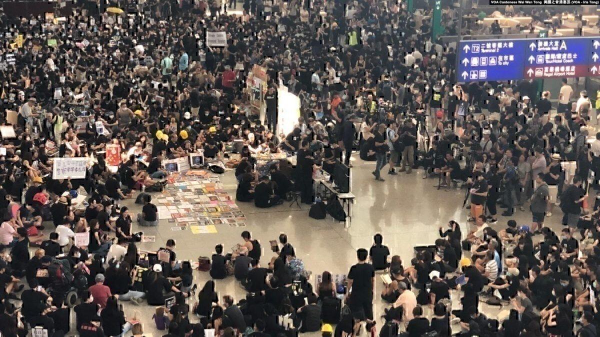 HK airport sit in 26 july
