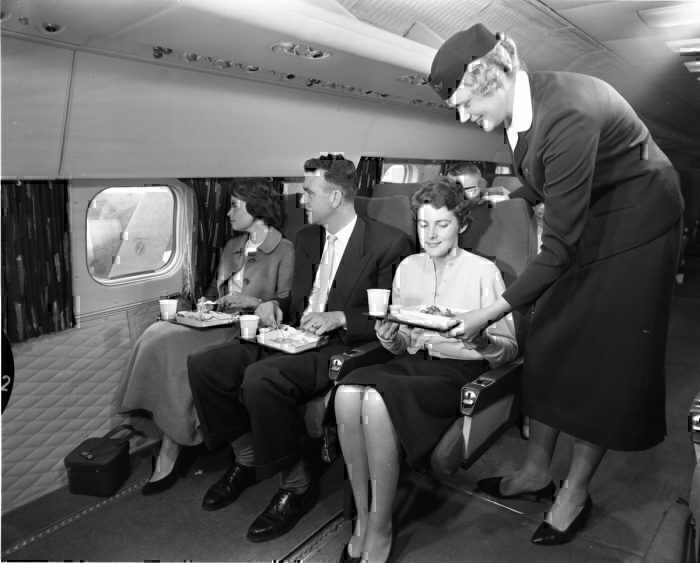 KLM economy class 1958