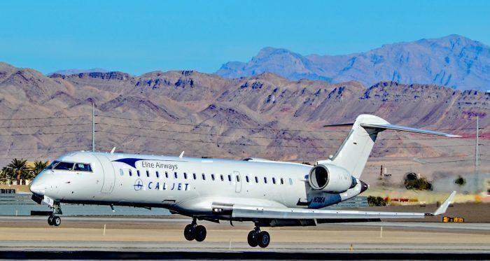An Elite Airways Bombardier CRJ 701
