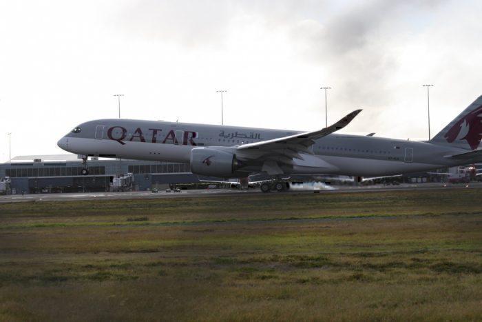 A Qatar Airways A350-900 in Adelaide, Australia
