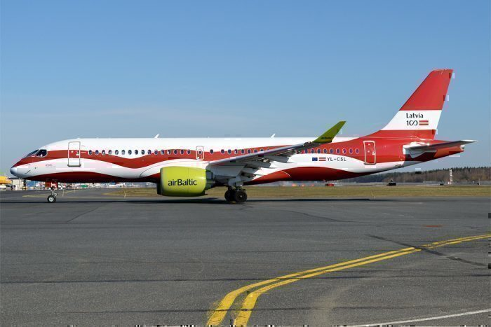 airBaltic Lithuanian Flag A220