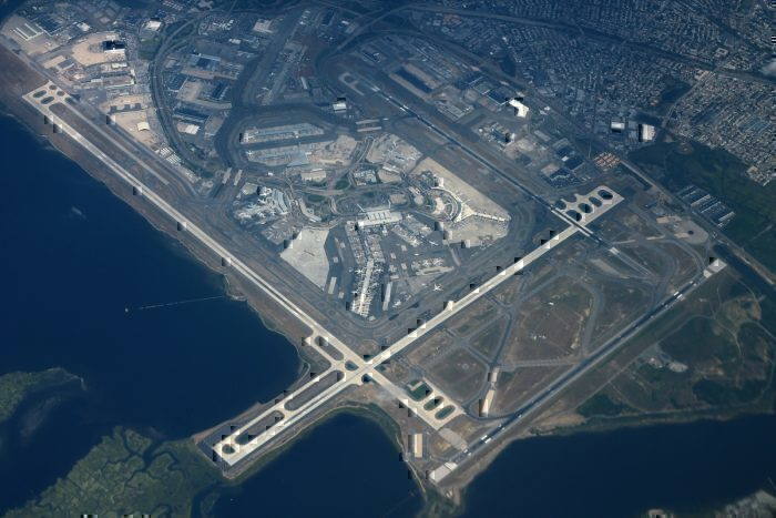 John F. Kennedy International Airport from above