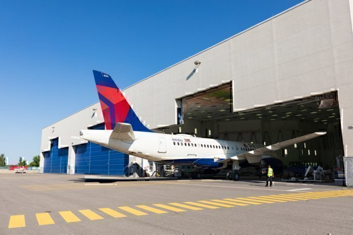 An newly delivered Delta Airbus A220