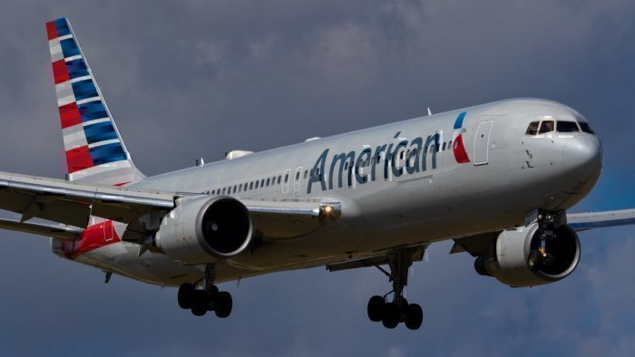 An American Airlines Boeing 767