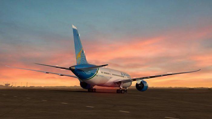 Air Tanzania 787 sunset