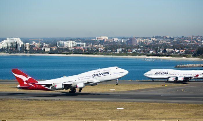 Qantas, Boeing 747, London to Sydney