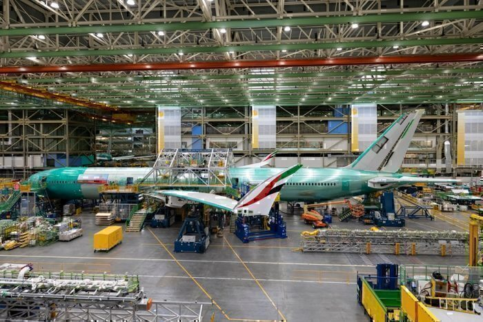 emirates-boeing 777x nears completion
