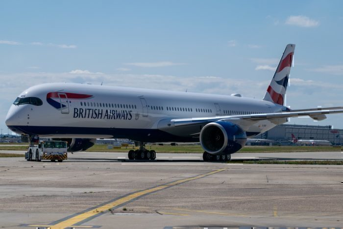 British Airways, London to Madrid, Airbus A350