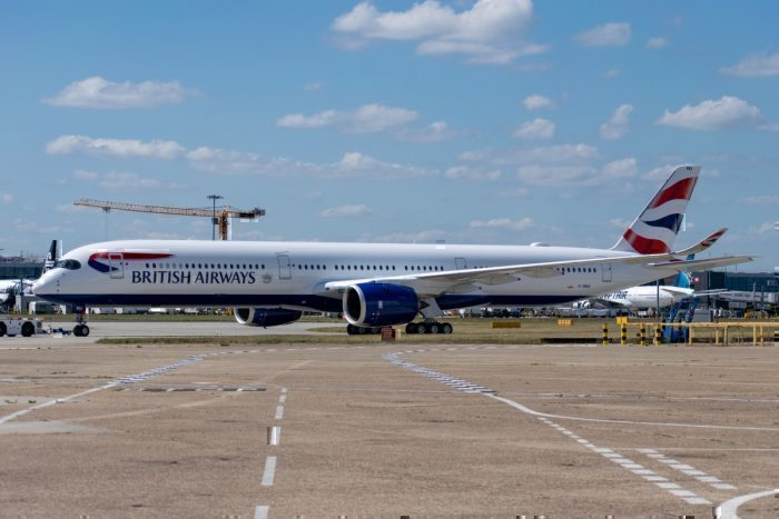 British Airways, Airbus A350, Inaugural Flight