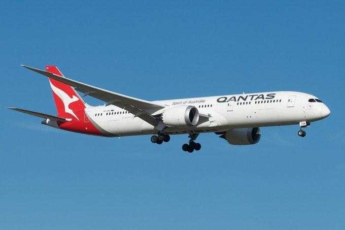 A Qantas Boeing 787-9