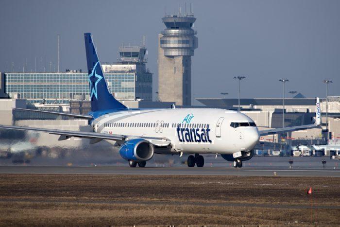AN Air Transat Boeing 737-800 on the runway
