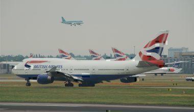 A British Airways Boeing 747 on the runway