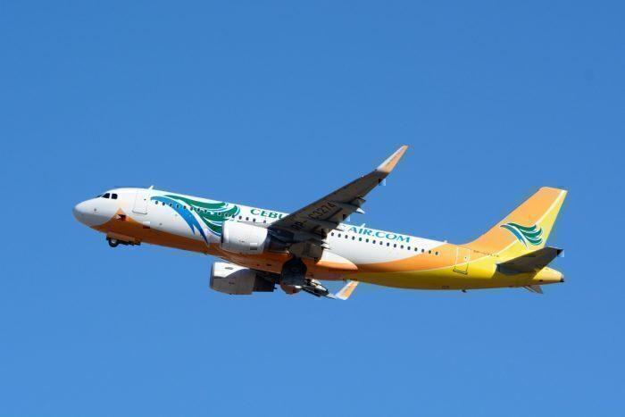 A Cebu Pacific A320-200 in flight