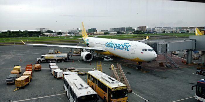 A Cebu Pacific Air jet at Ninoy Aquino International Airport