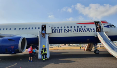 British Airways Valencia Airbus A321 Smoke
