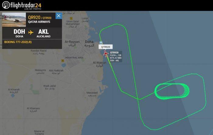 Qatar Airways Boeing 777 Engine Hole