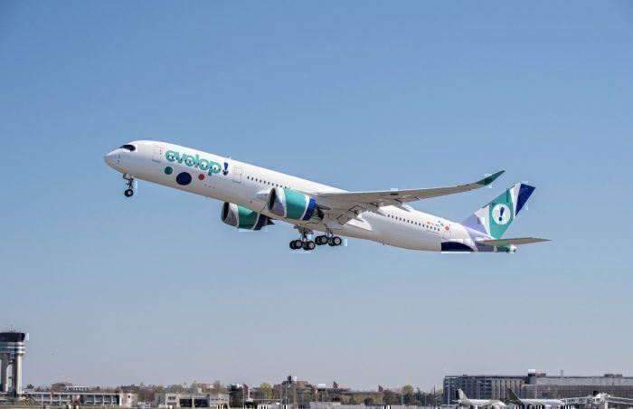 Evelop Airlines receives its first A350 XWB (1)
