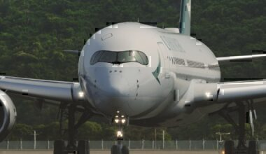 A Cathay Pacific Airbus A350