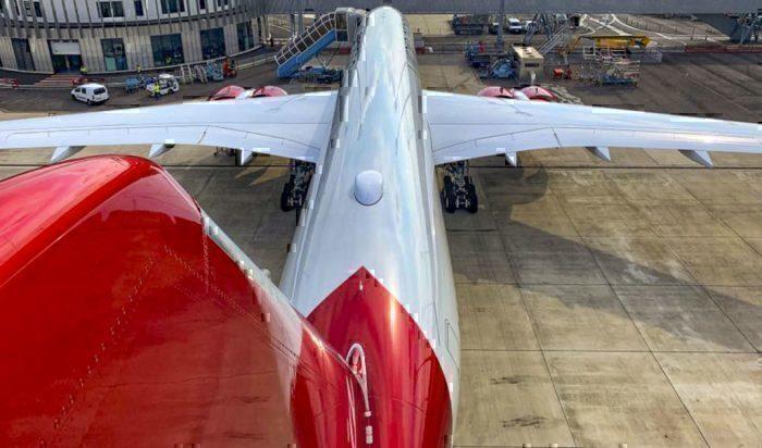 Virgin A350 tailcam