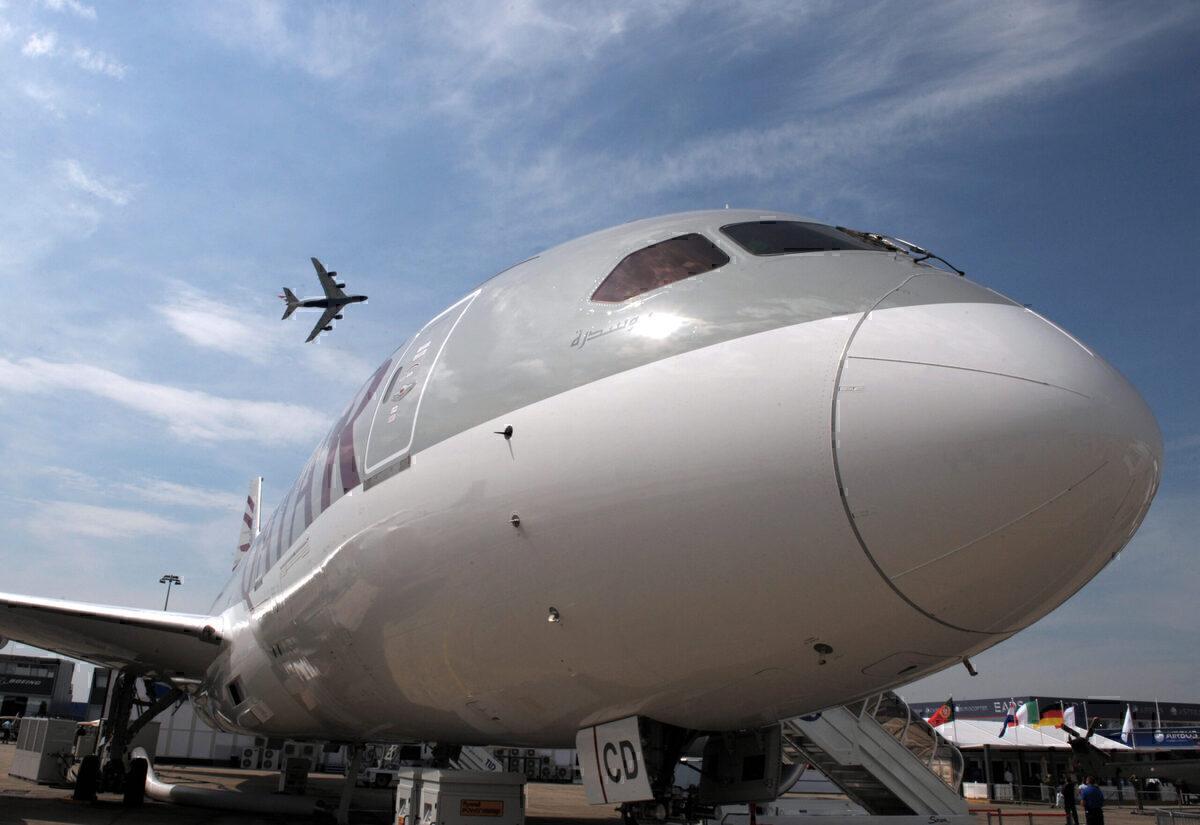 Qatar 787 & British Airways A380 Getty