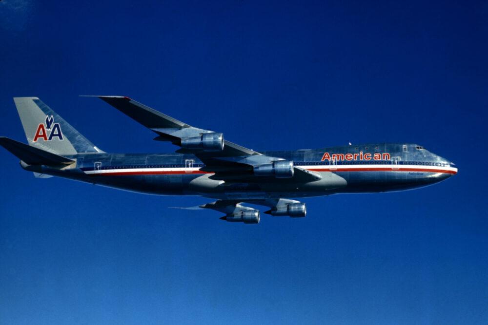 American Airlines Boeing 747 Flying