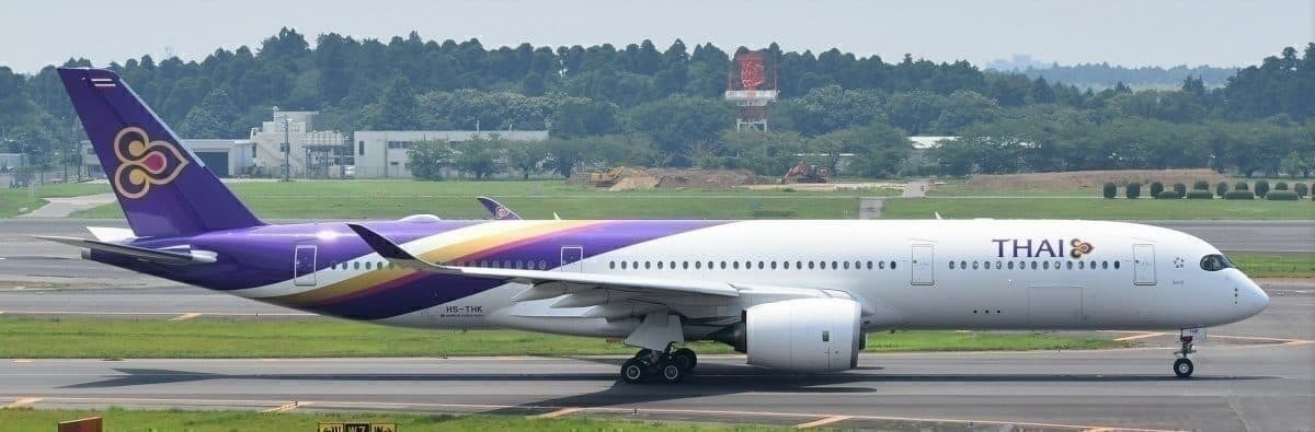 High levels of quality Thai Airways service ... Narita, Japan