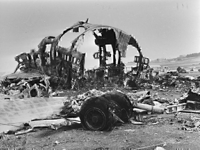 Wreckage of the Tenerife Air Disaster