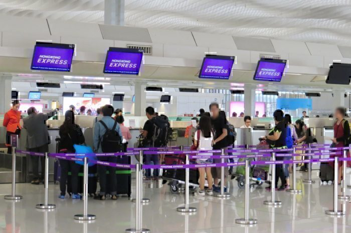 checking in for HK Express