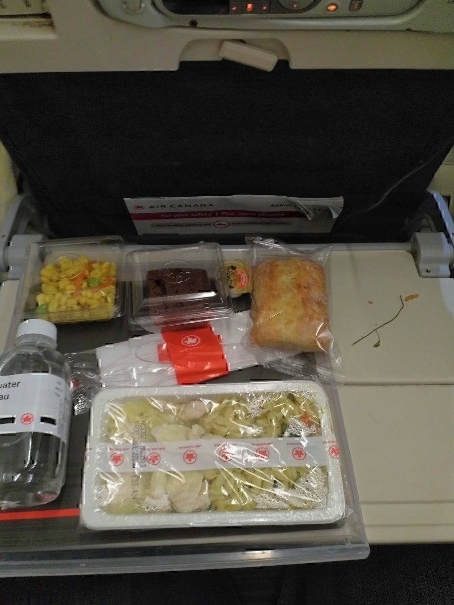 AC meal tray with left-overs