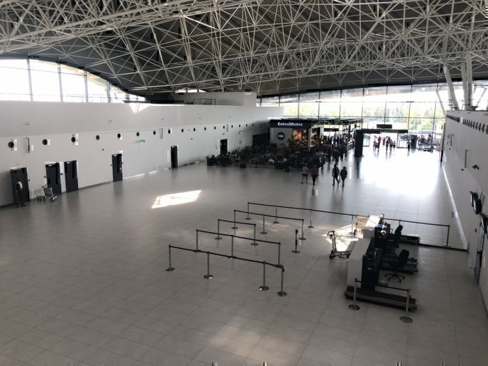 Zagreb Airport empty