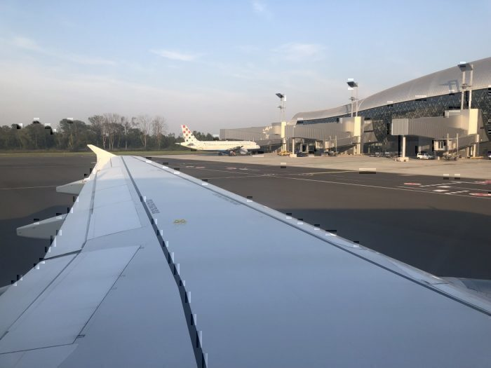 Croatia Airlines A320 parked at Zagreb