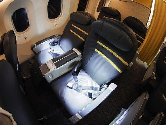 ScootBiz seats on a 787