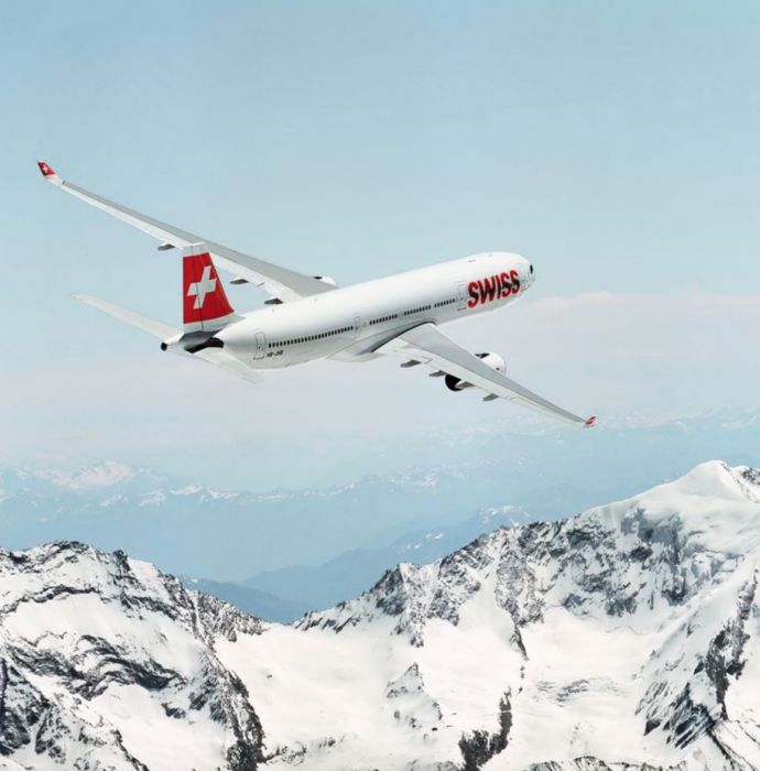Swiss A330 turning