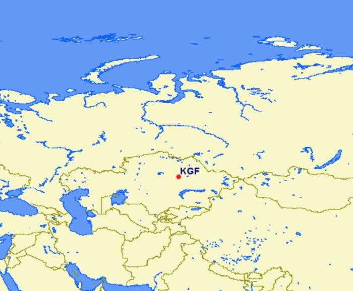 Karaganda Airport Location