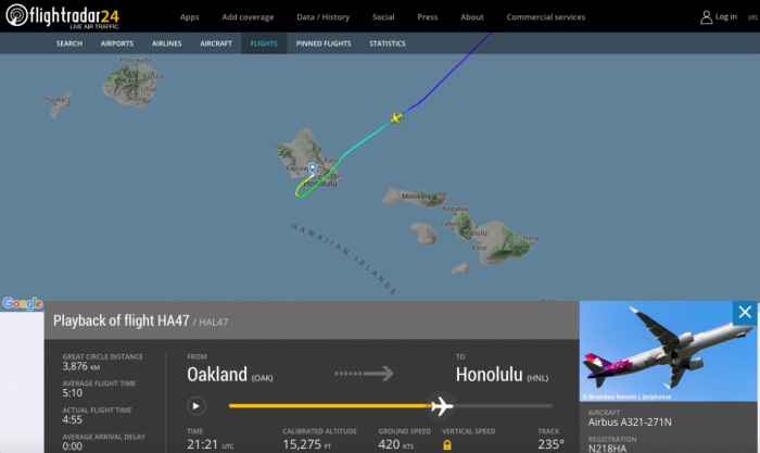 Hawaiian Airlines Airbus A321neo Evacuated After Smoke