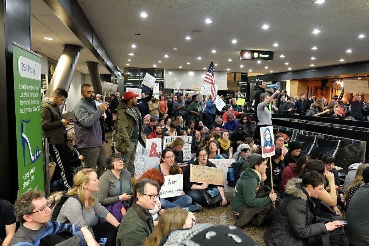 SeaTac Airport protest
