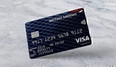 The British Airways Visa Signature card