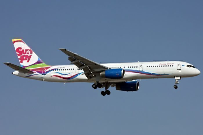 A Sunday Airlines Boeing 757