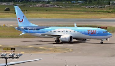 A TUIfly Nordic Boeing 737 MAX on the runway