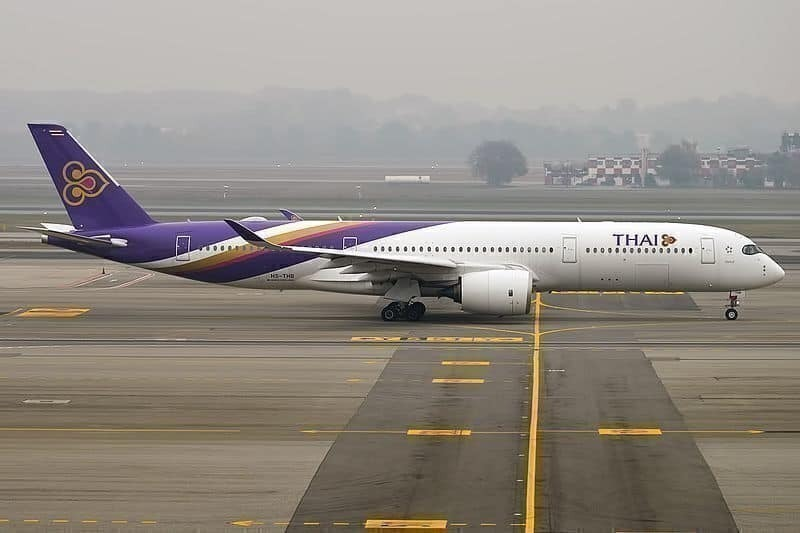 At three years old, the oldest A350-914 in the Thai Airways fleet