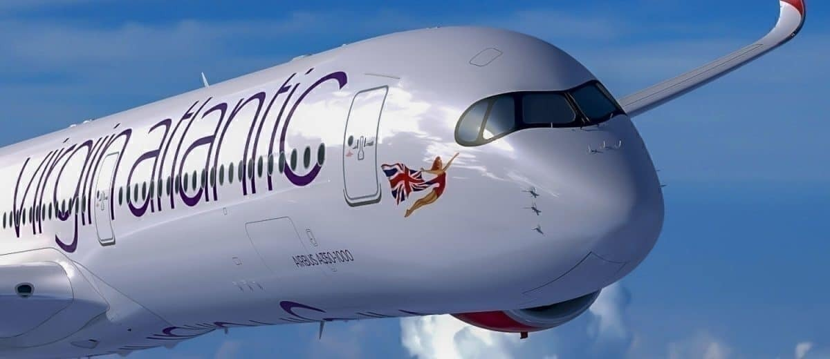 Here S Why Virgin Atlantic S New Airbus A350 Wears An Eye Mask