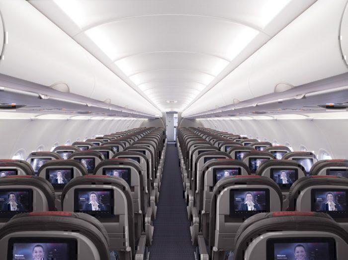American Airlines interior