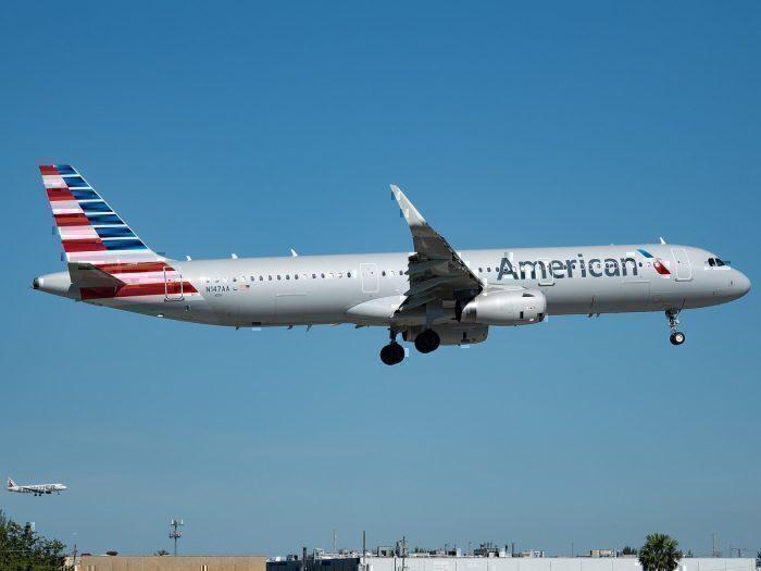 AA A321 landing