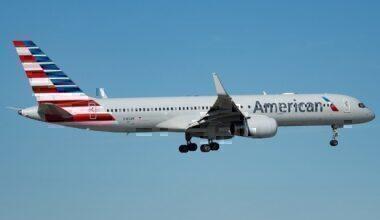 AA B757 landing