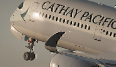 Cathay airline take-off