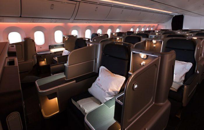 Qantas Dreamliner cabin