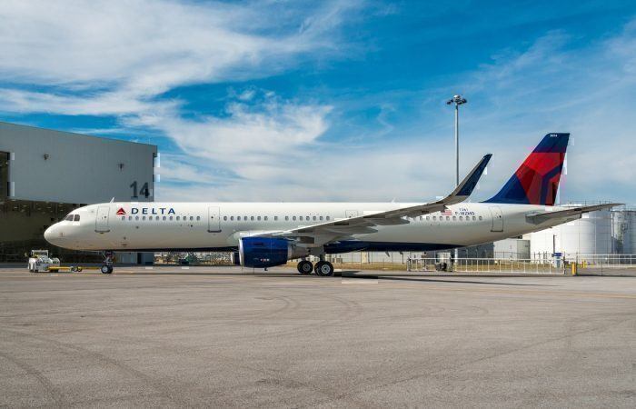 Delta Airlines A321 on apron